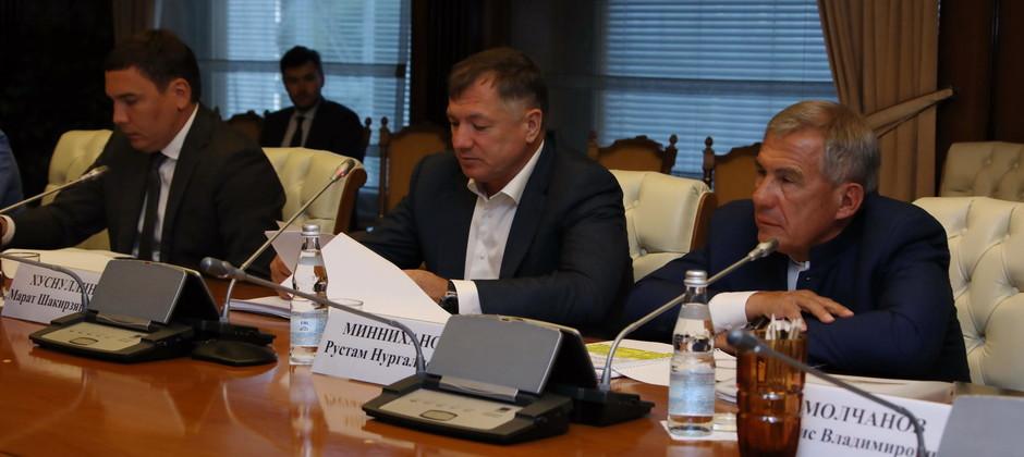 Айнур Тимерханов принял участие в заседании оргкомитета по подготовке и проведению празднования 1100-летия принятия ислама Волжской Булгарией