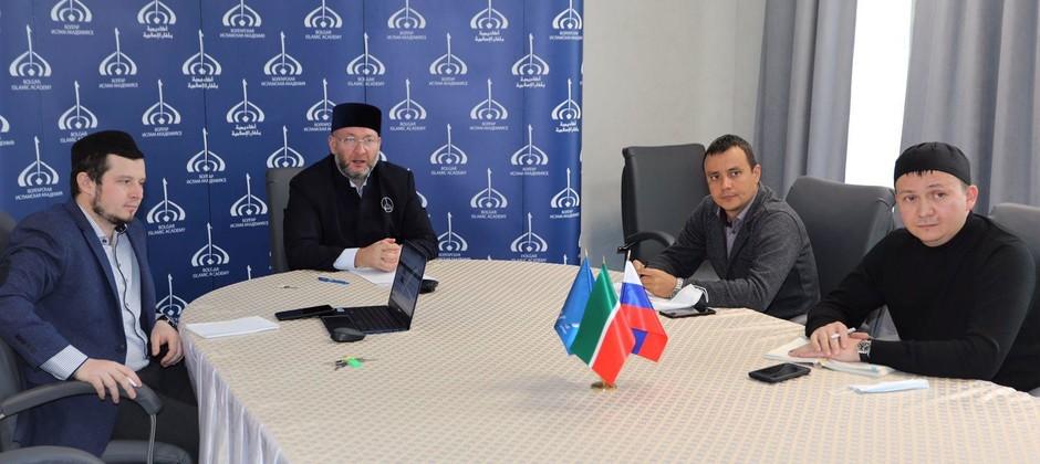 Состоялась рабочая встреча руководства Академии с представителями Университета им. Мухаммада бин Зайда