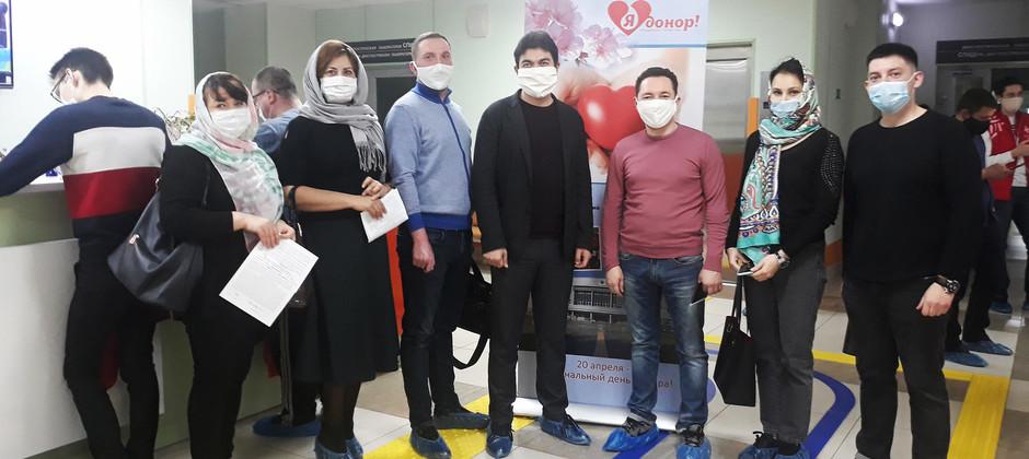 Сотрудники БИА присоединись к акции по сдаче крови